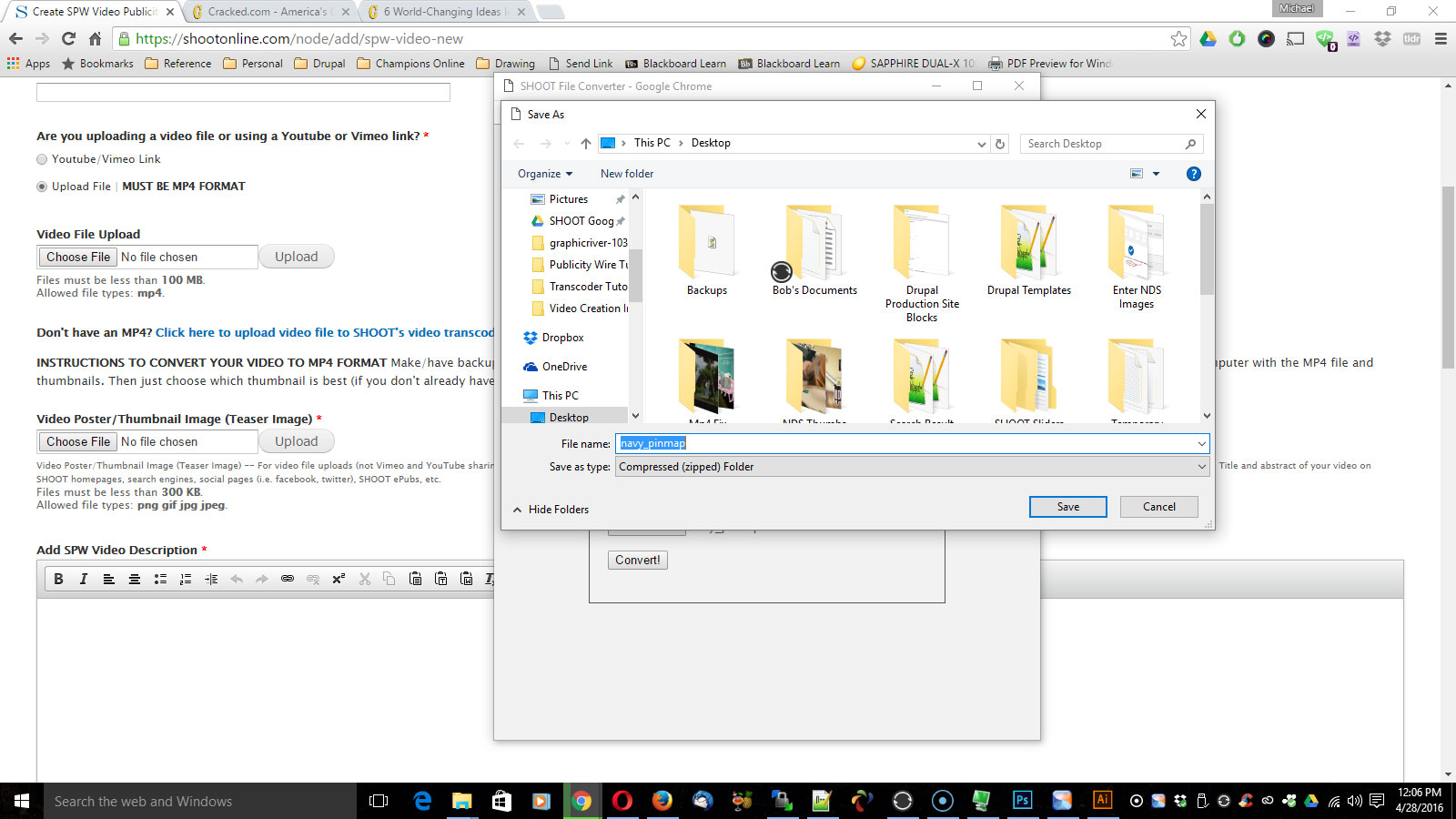 My video file is not an MP4 file type, how do I use the SHOOT